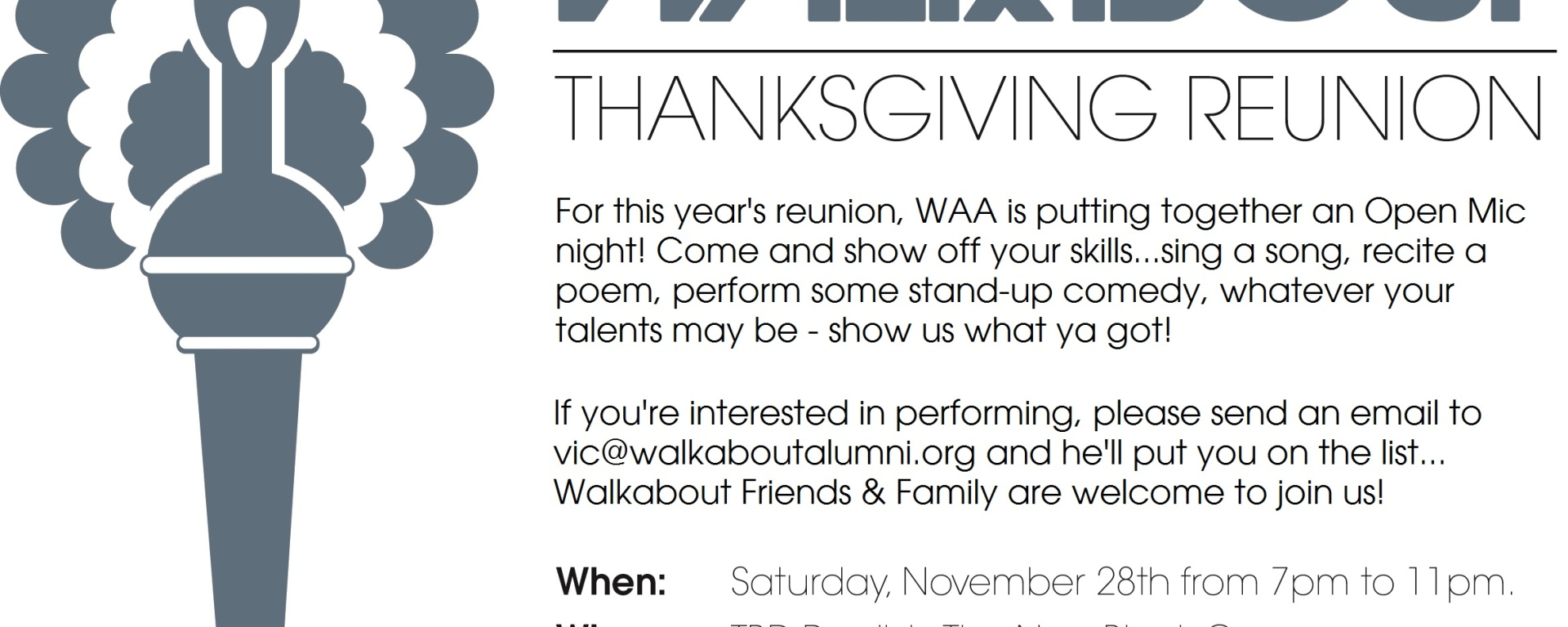 2015 Thanksgiving Gathering/Routine - Walkabout Alumni Association